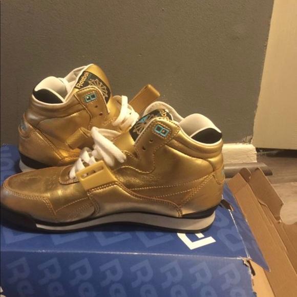 Gold Reebok Sneakers   Poshmark